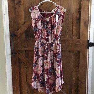 Loft midi floral dress, new with tags